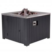 Garden Impressions Cozy Living sfeerhaard Faro 80x80 cm zwart