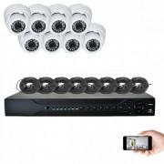 Kit vidéosurveillance 8 dômes AHD 720P 1MP 20m