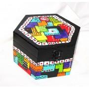 cutie din lemn hexagon - 014