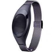 WATCHBB Pulsera Inteligente Bluetooth Deportes Pulsera Frecuencia cardíaca Monitoreo de la presión Arterial Sueño Salud Relojes Deportes Podómetro Deportes al Aire Libre (Color : Negro)