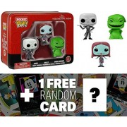 Jack, Sally, Oogie Boogie Tin Boxset: Pocket POP! x Disney The Nightmare Before Christmas Vinyl Figure + 1 FREE Official Classic Disney Trading Card Bundle [53147]