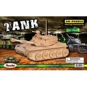 Puzzled Tank Wooden 3 D Puzzle Construction Kit