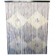 Perdea usa muste din lemn de bambus, 90 x 190 cm