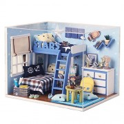 Mini Doll House For Kids Toy Wooden Furniture Miniatura Diy Doll Houses Miniature Wooden Toys For Birthday Gift
