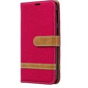 Samsung Galaxy A40 Hoesje - Denim Book Case - Rood