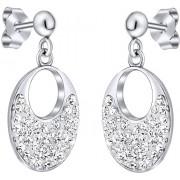 Silvego Stříbrné náušnice se Swarovski krystaly SILVEGOB36096