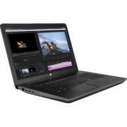 """NB HP ZBook 17 G4 Y6K23EA, crna, Intel Core i7 7700HQ 2.8GHz, 256GB SSD, 8GB, 17.3"""" 1920x1080, nVidia Quadro M2200 4GB, Windows 10 Professional 64bit, 36mj"""