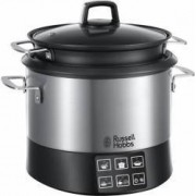 Multicooker Russell Hobbs Cook@Home 23130-56, 1000W, 4.5 l, 8 programe automate, Inox Bonus Fier de calcat Russell