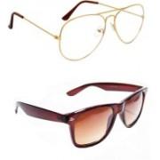 Sulit Aviator, Wayfarer, Cat-eye Sunglasses(Clear, Brown)