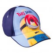 Детска шапка Minions Well This Sucks синя с тъмно синьо