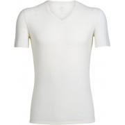 Icebreaker M's Anatomica SS V Shirt Snow 2019 M Supertunna underställströjor i merino