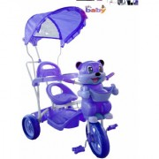 Oh Baby Baby fun bear look Musical With Tubeless Tyre 2 In 1 Function pink Color Tricycle For Your Kids SE-TC-49