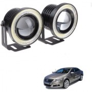 Auto Addict 3.5 High Power Led Projector Fog Light Cob with White Angel Eye Ring 15W Set of 2 For Volkswagen Passat