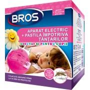 Aparat electric BROS impotriva tantarilor, pentru copii + 10 pastile