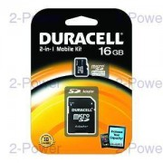 Duracell Minneskort Duracell 16GB 2 In One Micro SDHC CL4