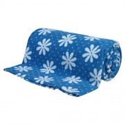 Speed Dry Flower Print Bed Protector - 2.2m X 1.4m (Extra Large) Blue