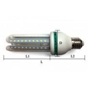 BEC LED 5W E14 LUMINA RECE 3 TUBURI A029-15