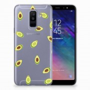 B2Ctelecom Samsung Galaxy A6 Plus (2018) Siliconen Case Avocado