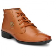 Swagonn Tan Stylish Elegant Formal Boots