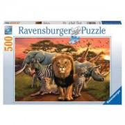 Пъзел Ravensburger 500 елемента, Животни в саваната, 701003