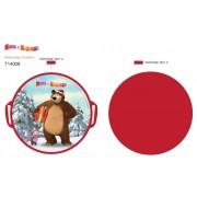 Ледянка Маша и Медведь, круглая, 52 см