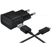 Incarcator retea Samsung EP-TA12EBEUGWW, cablu microUSB inclus, Universal (Negru)