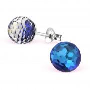 Cercei Martisor Moon Argint 925 Cristale Swarovski Bermuda Blue