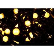 Karácsonyi LED fényfüzér 10 m - meleg fehér, 100 MAXI LED dióda