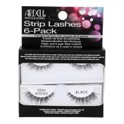 Ardell Strip Lashes Demi Wispies 6 párů nalepovacích řas 6 ks odstín Black pro ženy