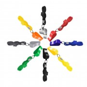 8pcs Multicolor Survive Outdoors Emergency Signal Life Saving Whistle Cheer Referee Coach With Rope Whistle