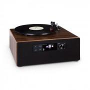 Auna Connect Vinyl Cube, lemezjátszó, max. 40 W, internet/DAB+/FM, USB, barna (KC6_ConnectVinylCube)