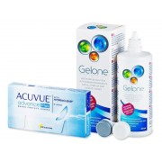 Johnson and Johnson Acuvue Advance PLUS (6 lentes) + Solução Gelone 360 ml