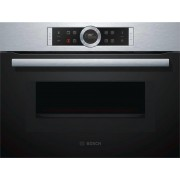 Bosch 45cm Serie 8 Compact Oven with 900W Microwave (CMG633BS1B)