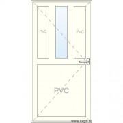 Inoutic Deur naar Binnen Openend - Half PVC 1 Raam