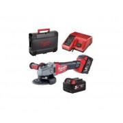 MILWAUKEE Smerigliatrice Angolare A Batteria 125 Con Batterie 2x 5.0 Ah