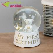 Glob de sticla Little Bear, Bambino, My First Birthday