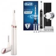 Комплект Дамски тример тип писалка за корекции за лице и тяло Philips HP6393/00 + Електрическа четка за зъби Oral-B, Genius 9000