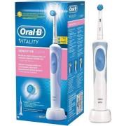 Periuta de dinti electrica Oral-B D12.513S Vitality Sensitive Clean Box Alb Albastru