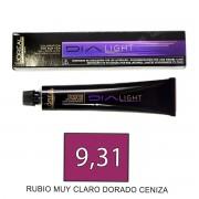 Loreal DIALIGHT 9,31 Rubio Muy Claro Dorado Ceniza - tinte 5