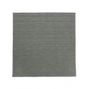 RugVista Tapis Kilim loom - Gris foncé 250x250 Tapis Moderne, Carré