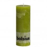 Bolsius kaars rustiek 19x7 cm mosgroen