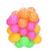 Merkloos 120x Ballenbak ballen neon kleuren 6 cm speelgoed