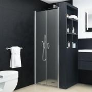vidaXL Uși cabină de duș, mătuit, 85 x 185 cm, ESG