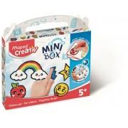 Üvegfóliafesték kreatív készségfejlesztő készlet, mintaívvel, MAPED CREATIV, Mini Box, 6 különböző szín (IMAC907012)