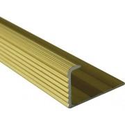 Bagheta dreapta din aluminiu eloxat 10mm auriu LED105.83