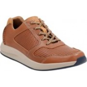 Clarks Sirtis Mix Dark Tan Lea Outdoors For Men(Tan)