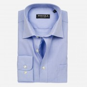 STEVULA Svetlomodrá popelínová košeľa, Regular fit Veľkosť: M 39/40