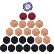 GSI Carrom Striker + Carrom coins/Carrom men
