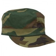 Tahiro Military Print Cotton Cap For Girls - Pack Of 1