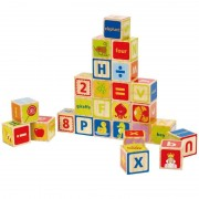 Hape 26 Cubes Alphabet 'ABCdaire' - Jouets Hape